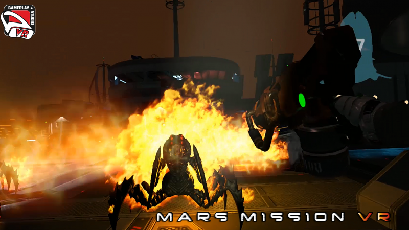 mars mission vr : flamethrower's power