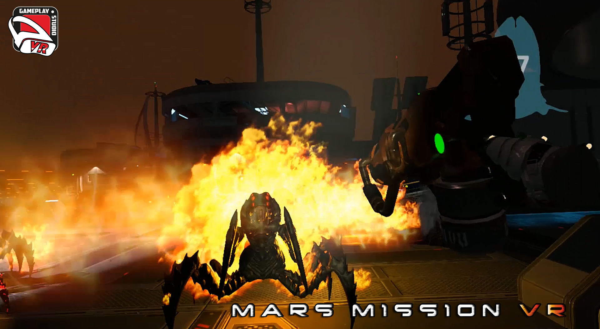 mars mission vr : flamethrower's power