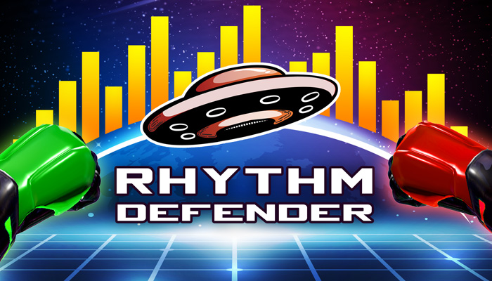 rhythm defender - vr rhythm game - import your own songs and play right away
