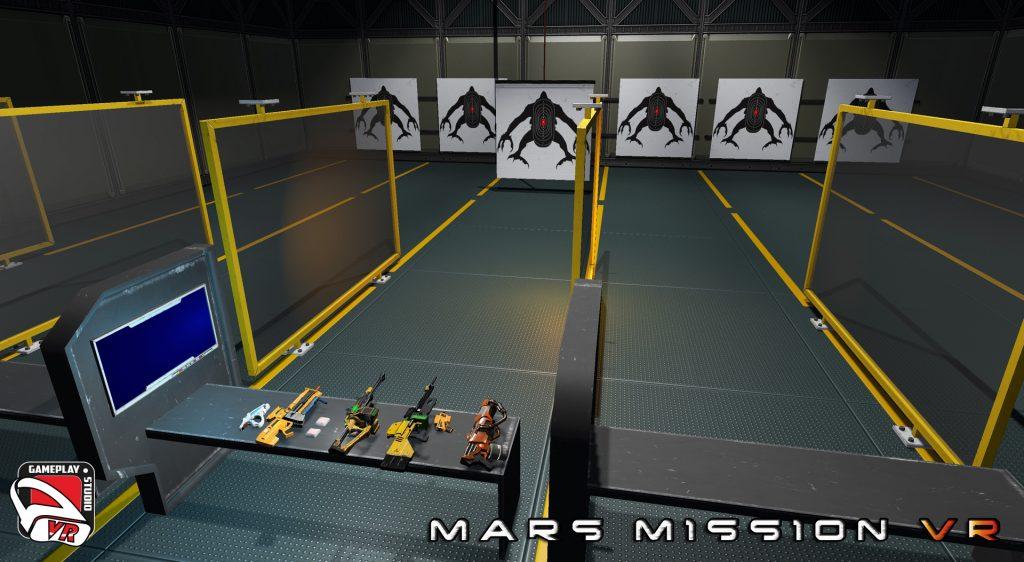 mars mission VR shooting range