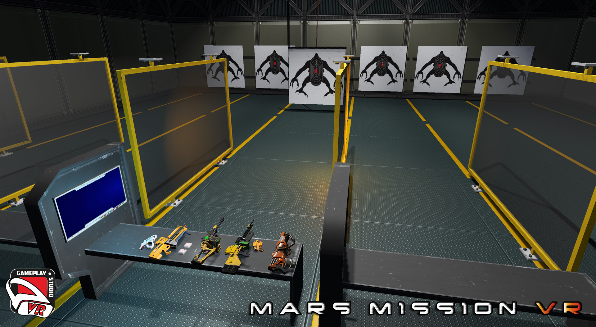 mars mission VR shooting range